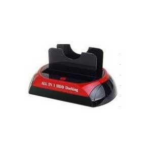 Powertek USB2.0 Dual SATA HDD Dock with eSATA and Card Reader - 1 x IDE + 1 x SATA