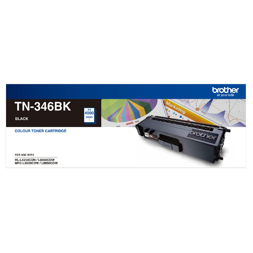 Brother TN-346BK High Yield  Black Toner Cartridge - 4000 pages