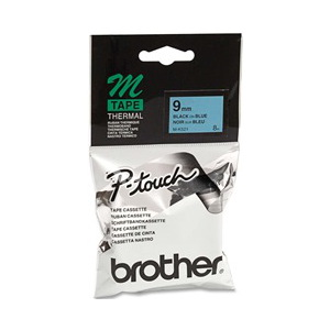 Brother M-K521 Non Laminated Black Printing on Blue Tape (9mm Width 8 Metres in Length)
